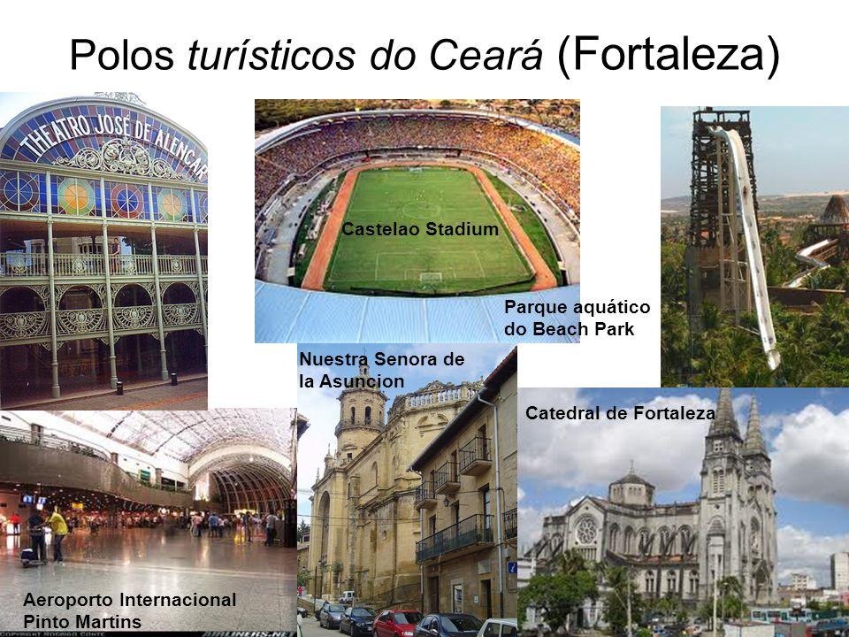 Polos turísticos do Ceará (Fortaleza) Castelao Stadium Aeroporto Internacional Pinto Martins Nuestra Senora de la Asuncion Catedral de Fortaleza Parqu