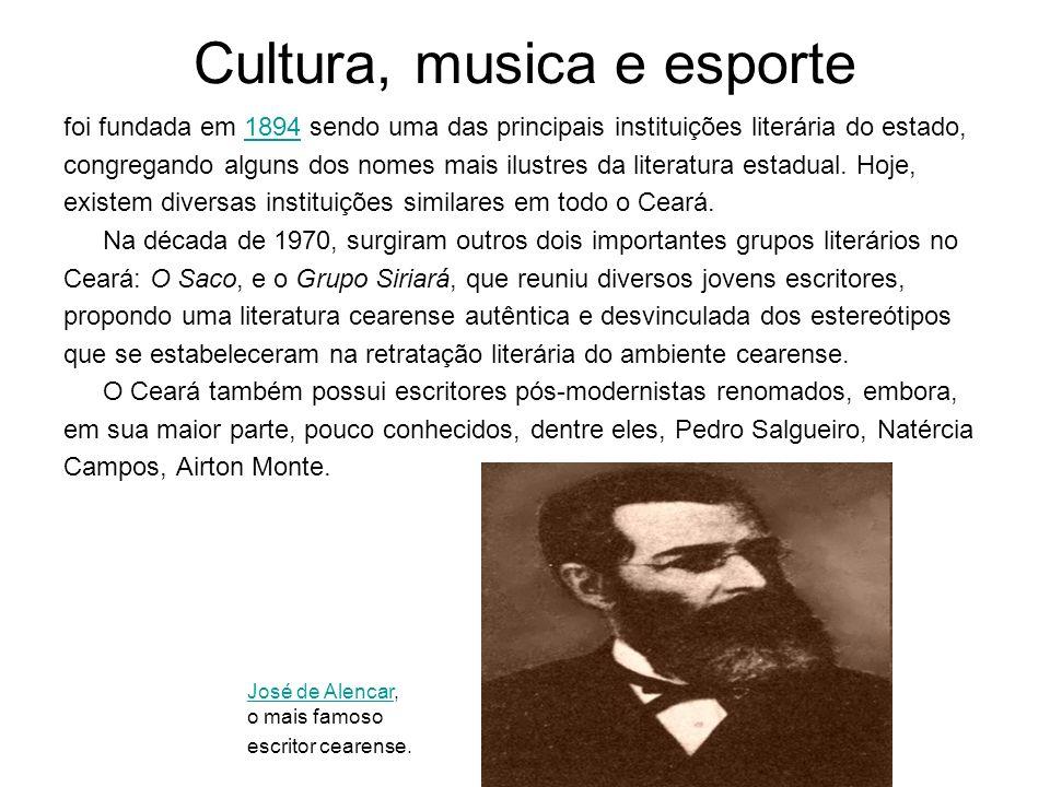 Cultura, musica e esporte foi fundada em 1894 sendo uma das principais instituições literária do estado,1894 congregando alguns dos nomes mais ilustre