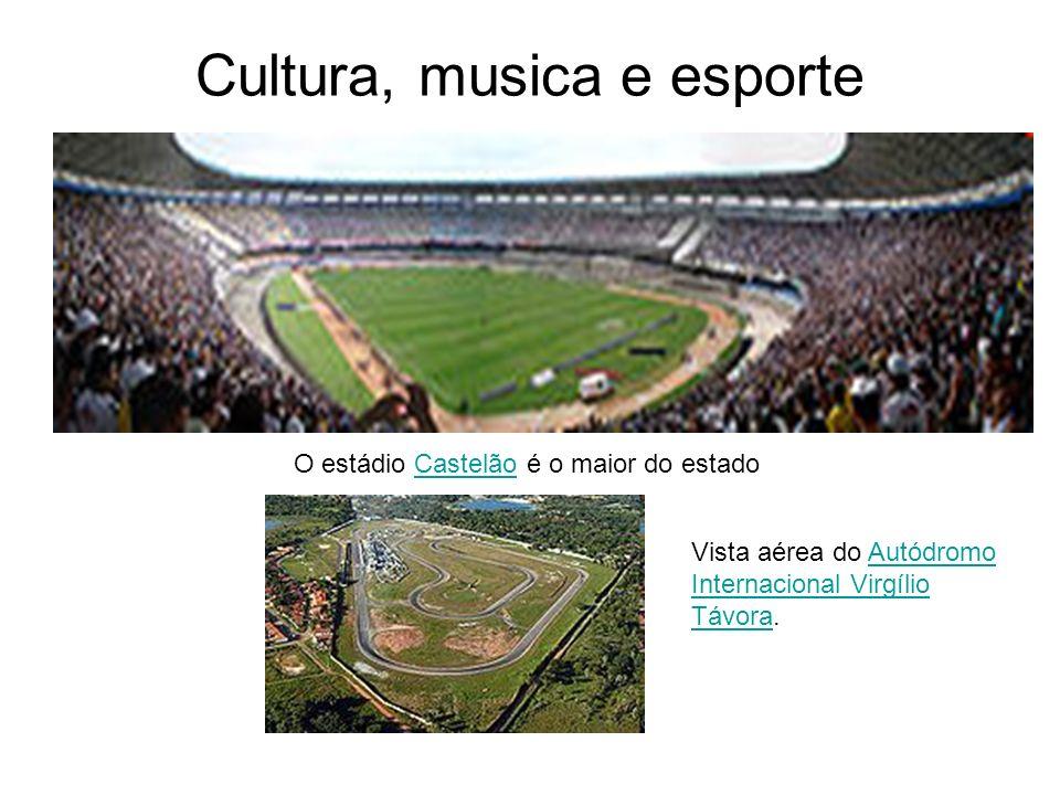 Cultura, musica e esporte O estádio Castelão é o maior do estadoCastelão Vista aérea do Autódromo Internacional Virgílio Távora.Autódromo Internaciona