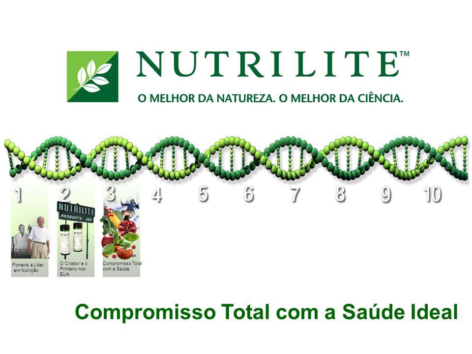 Compromisso Total com a Saúde Ideal Pioneira e Líder em Nutrição O Criador e o Primeiro nos EUA Compromisso Total com a Saúde