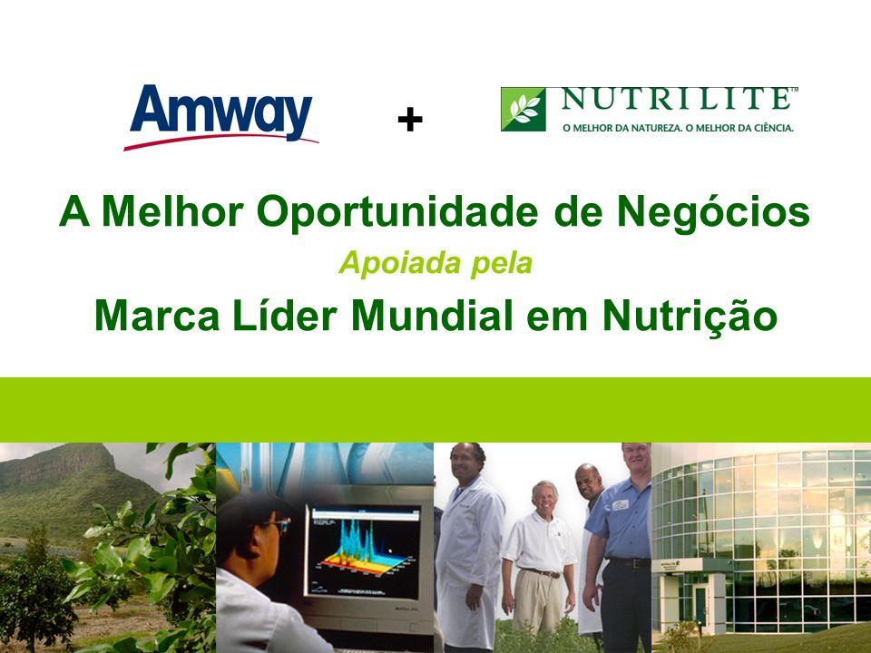 A Melhor Oportunidade de Negócios Apoiada pela Marca Líder Mundial em Nutrição +