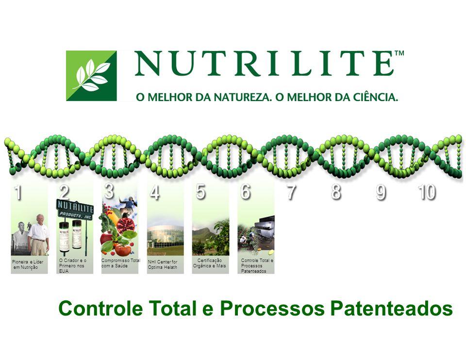 Controle Total e Processos Patenteados NHI Center for Optima Helath Pioneira e Líder em Nutrição O Criador e o Primeiro nos EUA Compromisso Total com