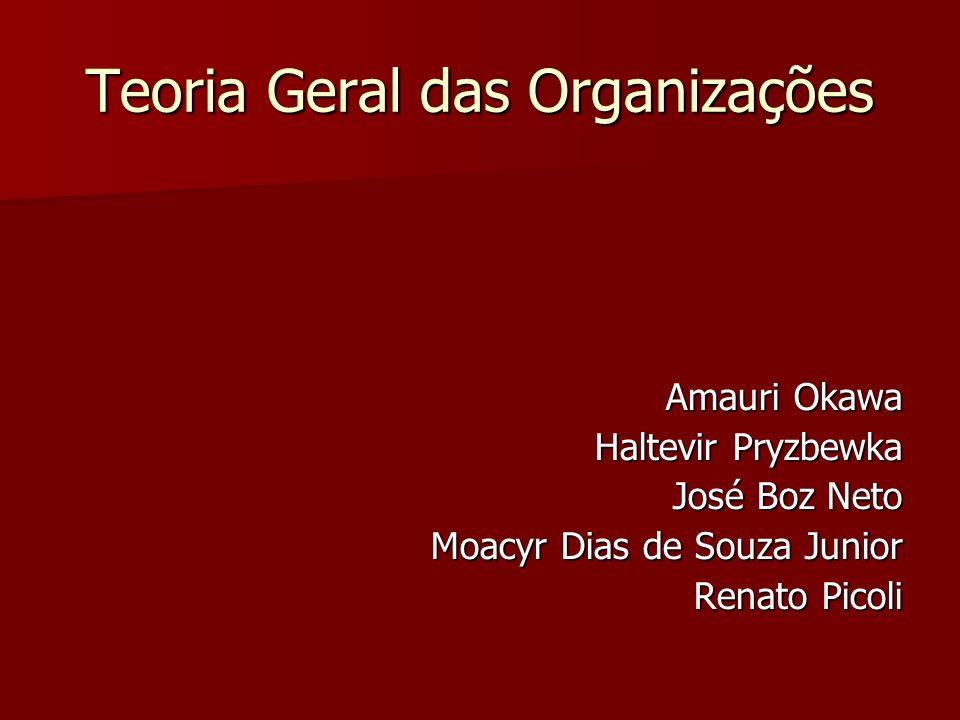 Teoria Geral das Organizações Amauri Okawa Haltevir Pryzbewka José Boz Neto Moacyr Dias de Souza Junior Renato Picoli