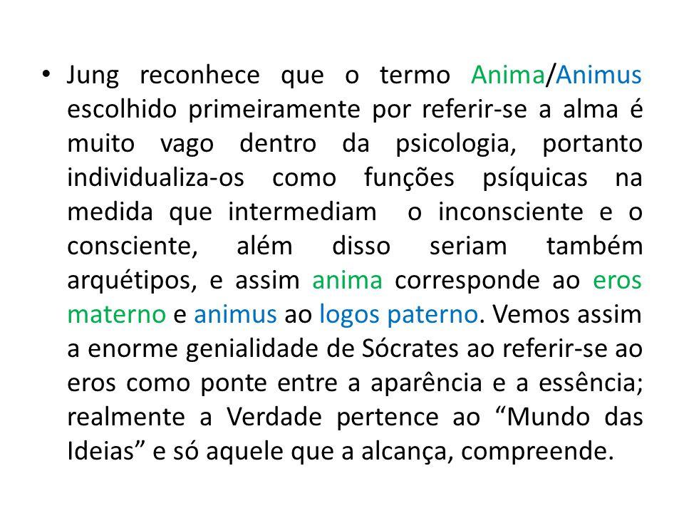 Jung reconhece que o termo Anima/Animus escolhido primeiramente por referir-se a alma é muito vago dentro da psicologia, portanto individualiza-os com
