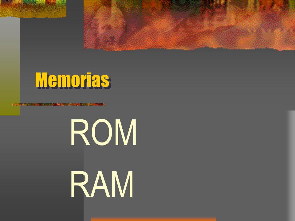 Memorias ROM RAM