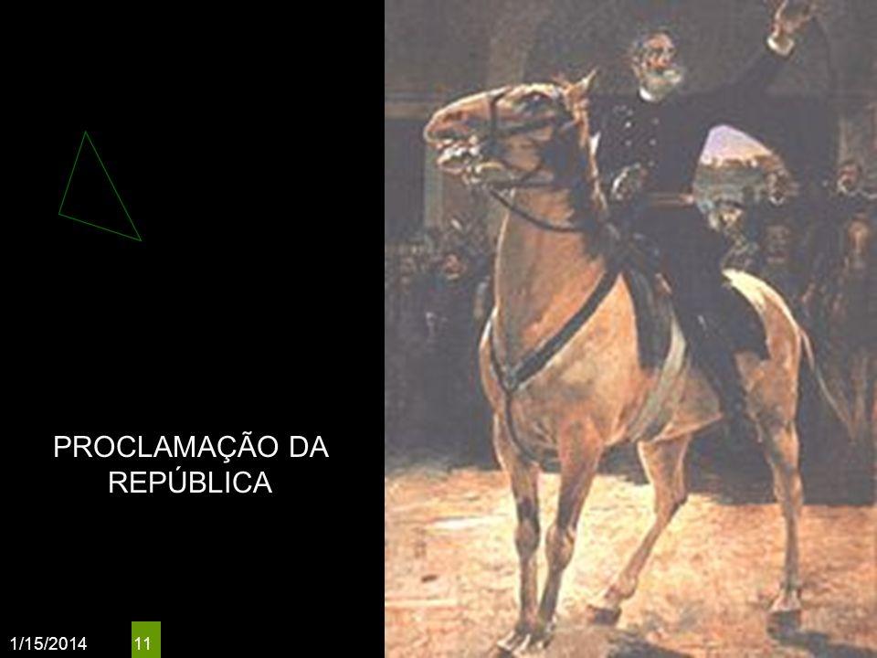 1/15/2014 11 PROCLAMAÇÃO DA REPÚBLICA