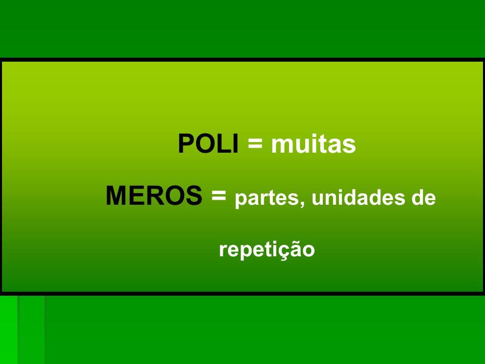 NEM TODAS AS MACROMOLÉCULAS SÃO POLÍMEROS POLÍMEROS = MACROMOLÉCULA Na grande maioria dos polímeros industrializados, o peso molecular se encontra entre 10 4 e 10 6