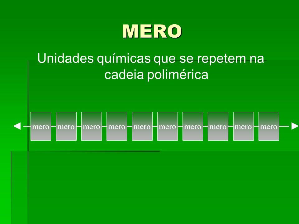 EXEMPLOS DE MONOMEROS E MEROS
