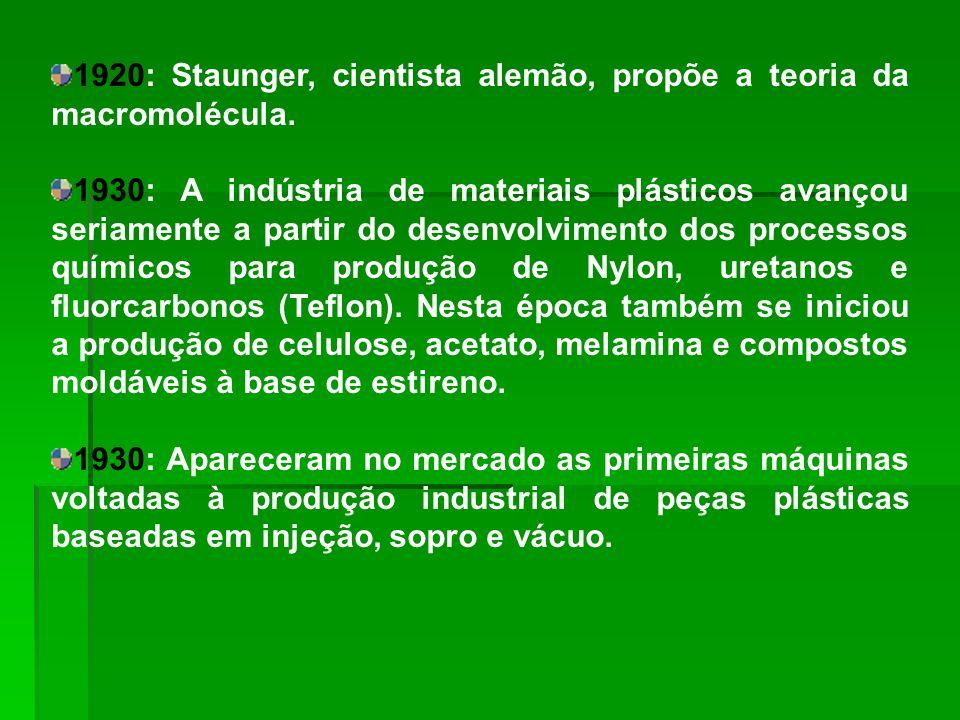 Produção anual de 4 milhões de toneladas de resina; Responsável pelo abastecimento total do mercado brasileiro de commodities poliméricas; Vendas correspondentes a cerca de 1,5% do PIB do país; Emprega cerca de 200 mil pessoas; Essa cadeia é formada por cerca de 6 mil empresas, que variam de grande porte (produtoras de insumos e de polímeros) a empresas de médio, pequeno e micro porte (transformadores de polímeros).