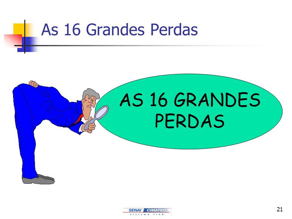 21 As 16 Grandes Perdas AS 16 GRANDES PERDAS