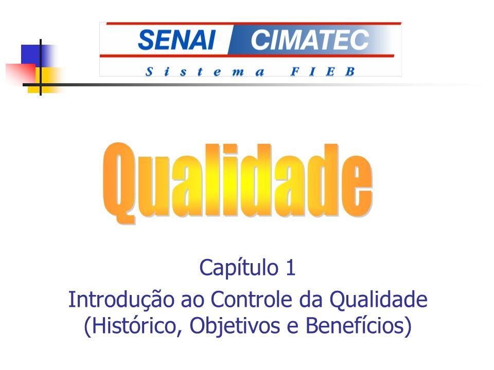 Capítulo 1 Introdução ao Controle da Qualidade (Histórico, Objetivos e Benefícios)