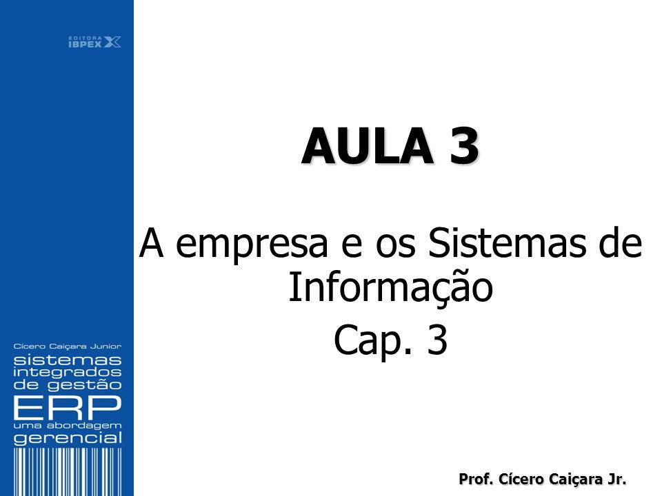 Prof. Cícero Caiçara Jr. AULA 3 A empresa e os Sistemas de Informação Cap. 3 AULA 3 A empresa e os Sistemas de Informação Cap. 3