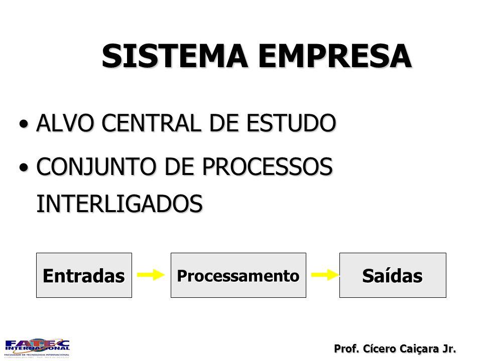 Prof. Cícero Caiçara Jr. SISTEMA EMPRESA ALVO CENTRAL DE ESTUDOALVO CENTRAL DE ESTUDO CONJUNTO DE PROCESSOS INTERLIGADOSCONJUNTO DE PROCESSOS INTERLIG