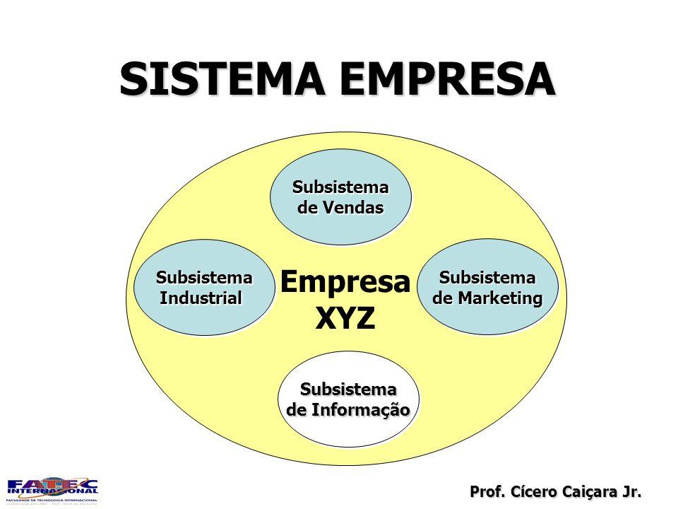 Prof. Cícero Caiçara Jr. SISTEMA EMPRESA Empresa XYZ Empresa XYZ SubsistemaIndustrialSubsistemaIndustrial Subsistema de Marketing Subsistema Subsistem
