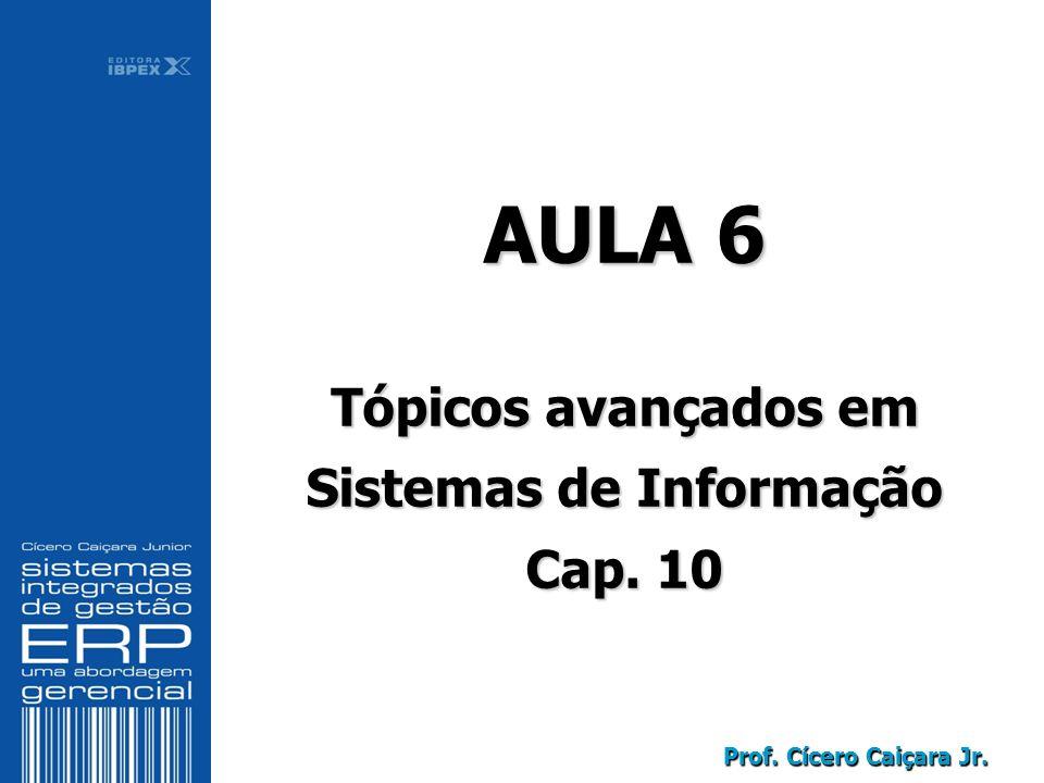 Prof. Cícero Caiçara Jr. AULA 6 Tópicos avançados em Sistemas de Informação Cap.