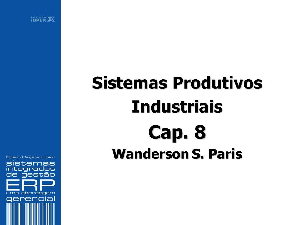 Sistemas Produtivos Industriais Cap. 8 Wanderson S. Paris Sistemas Produtivos Industriais Cap. 8 Wanderson S. Paris