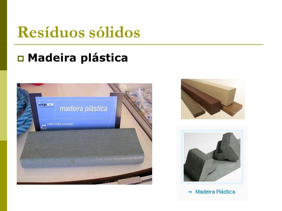 Resíduos sólidos Madeira plástica