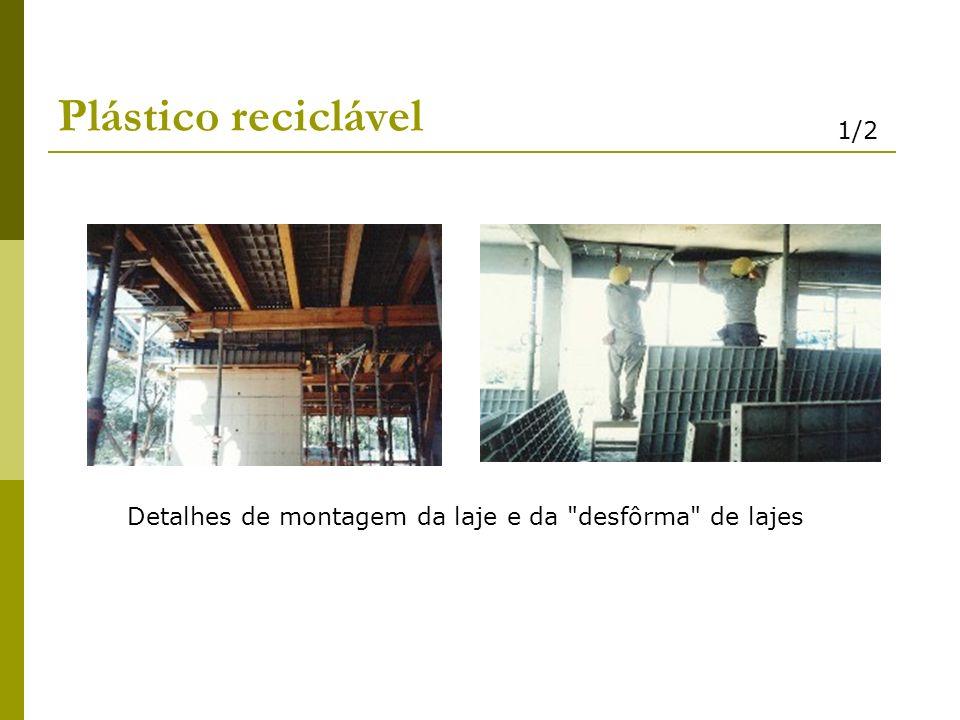 Plástico reciclável Detalhes de montagem da laje e da
