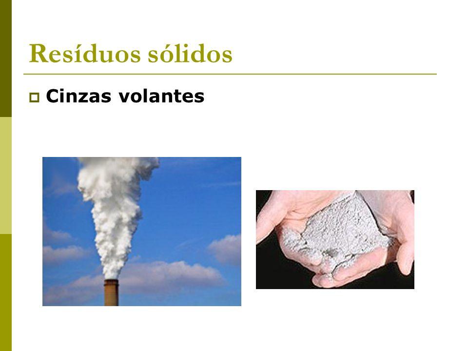 Resíduos sólidos Cinzas volantes