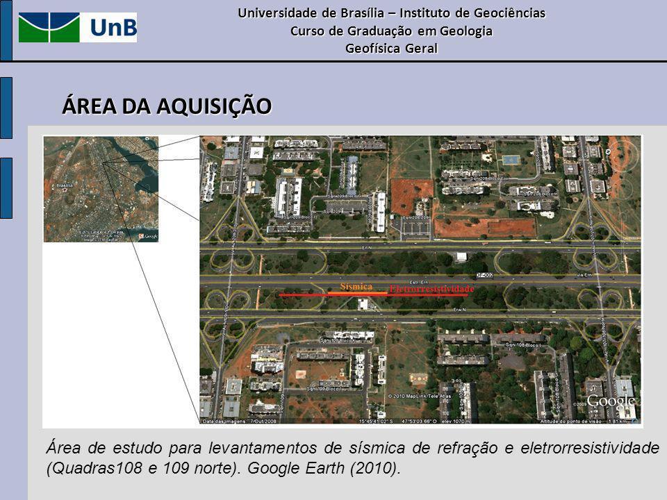 Universidade de Brasília – Instituto de Geociências Curso de Graduação em Geologia Geofísica Geral ÁREA DA AQUISIÇÃO Área de estudo para levantamentos