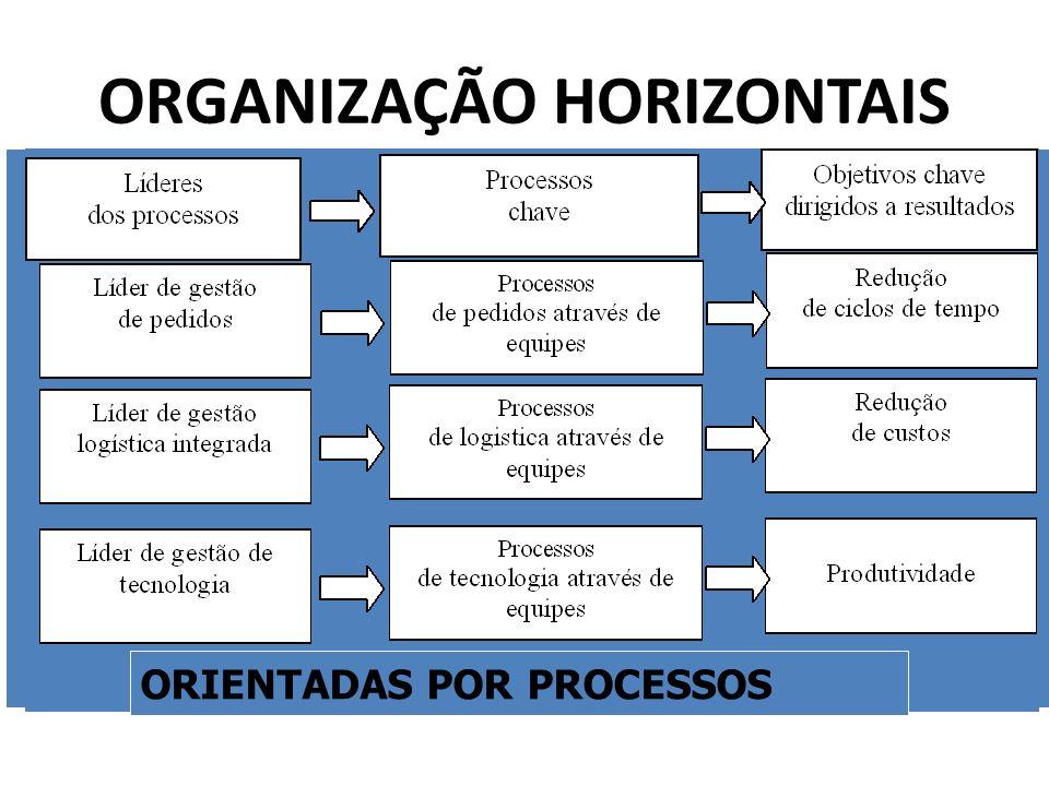 ORGANIZAÇÃO HORIZONTAIS ORIENTADAS POR PROCESSOS