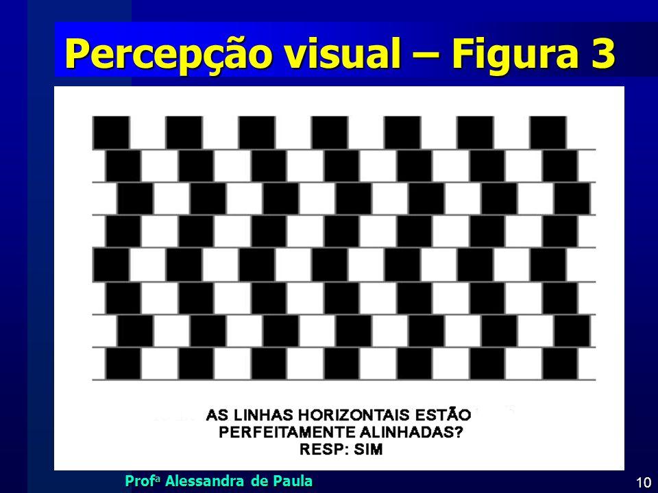 Prof a Alessandra de Paula 10 Percepção visual – Figura 3