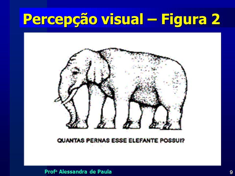 Prof a Alessandra de Paula 9 Percepção visual – Figura 2