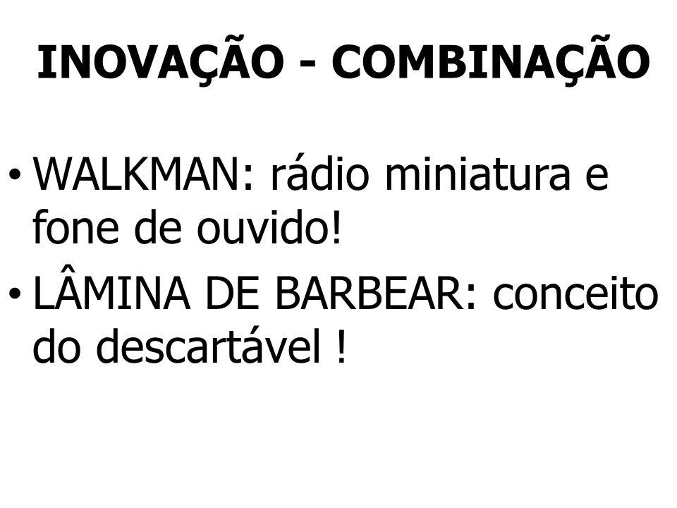INOVAÇÃO - COMBINAÇÃO WALKMAN: rádio miniatura e fone de ouvido! LÂMINA DE BARBEAR: conceito do descartável !