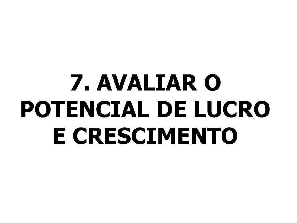 7. AVALIAR O POTENCIAL DE LUCRO E CRESCIMENTO