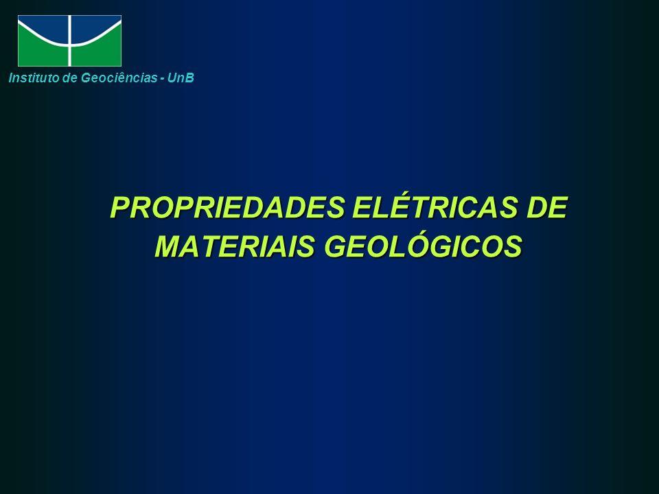 PROPRIEDADES ELÉTRICAS DE MATERIAIS GEOLÓGICOS Instituto de Geociências - UnB