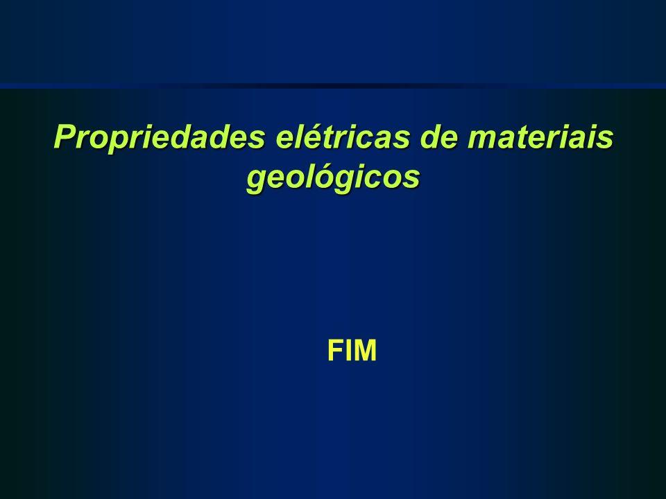 Propriedades elétricas de materiais geológicos FIM