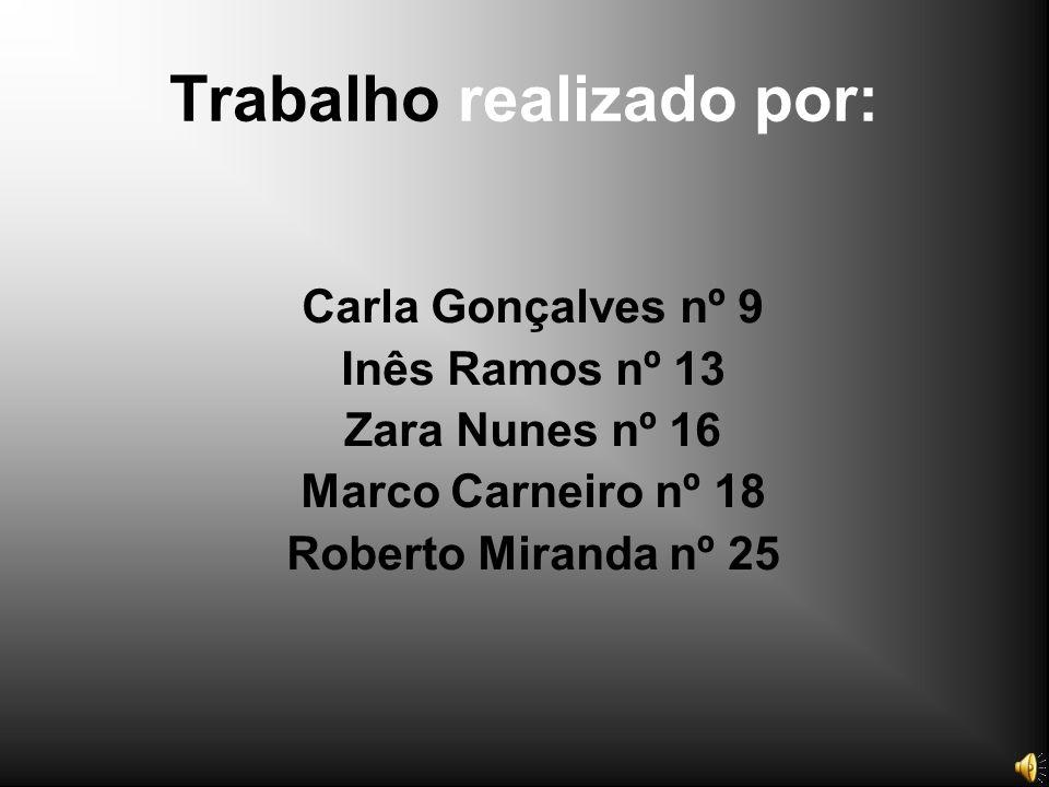 Trabalho realizado por: Carla Gonçalves nº 9 Inês Ramos nº 13 Zara Nunes nº 16 Marco Carneiro nº 18 Roberto Miranda nº 25