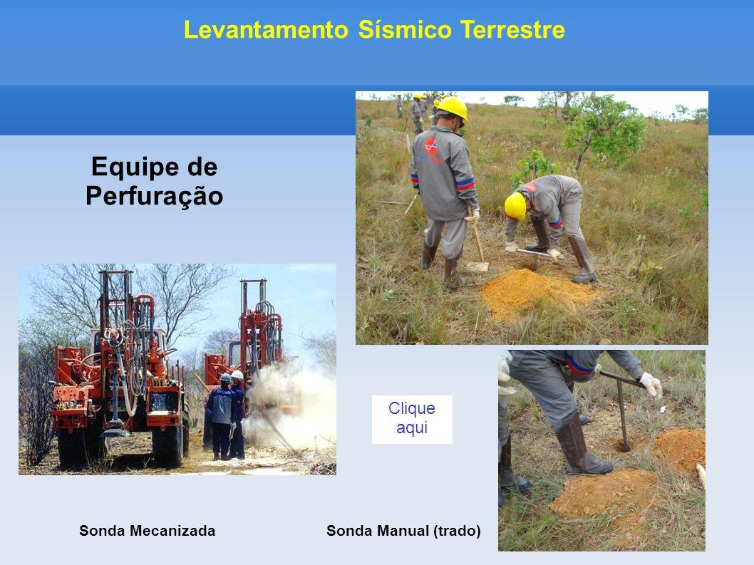 Sonda MecanizadaSonda Manual (trado) Equipe de Perfuração Levantamento Sísmico Terrestre Clique aqui