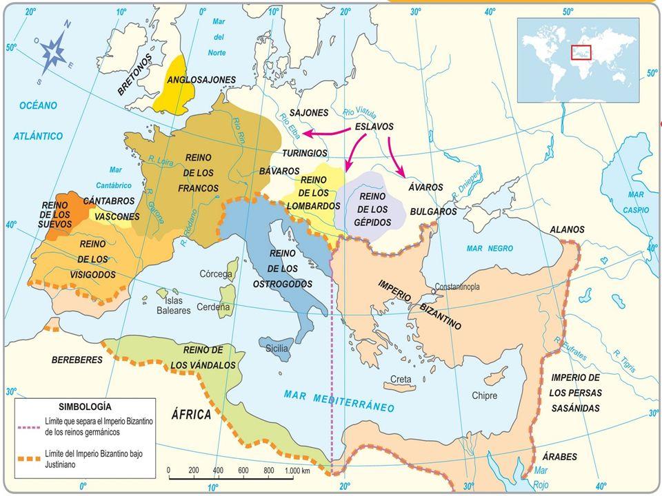 Definição: período compreendido entre a invasão do Império Romano (476) e a tomada de Constantinopla pelos turcos (1453). Subdivisão: Alta (século V a