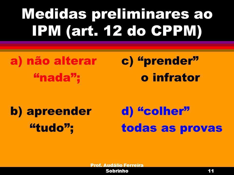 Prof.Audálio Ferreira Sobrinho12 Formação do IPM (art.