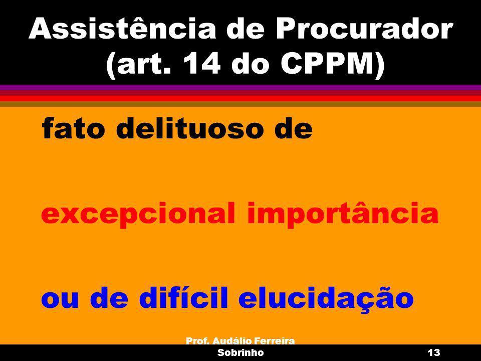Prof.Audálio Ferreira Sobrinho14 Inquérito Policial Militar Requisitos/ encarregado= art.