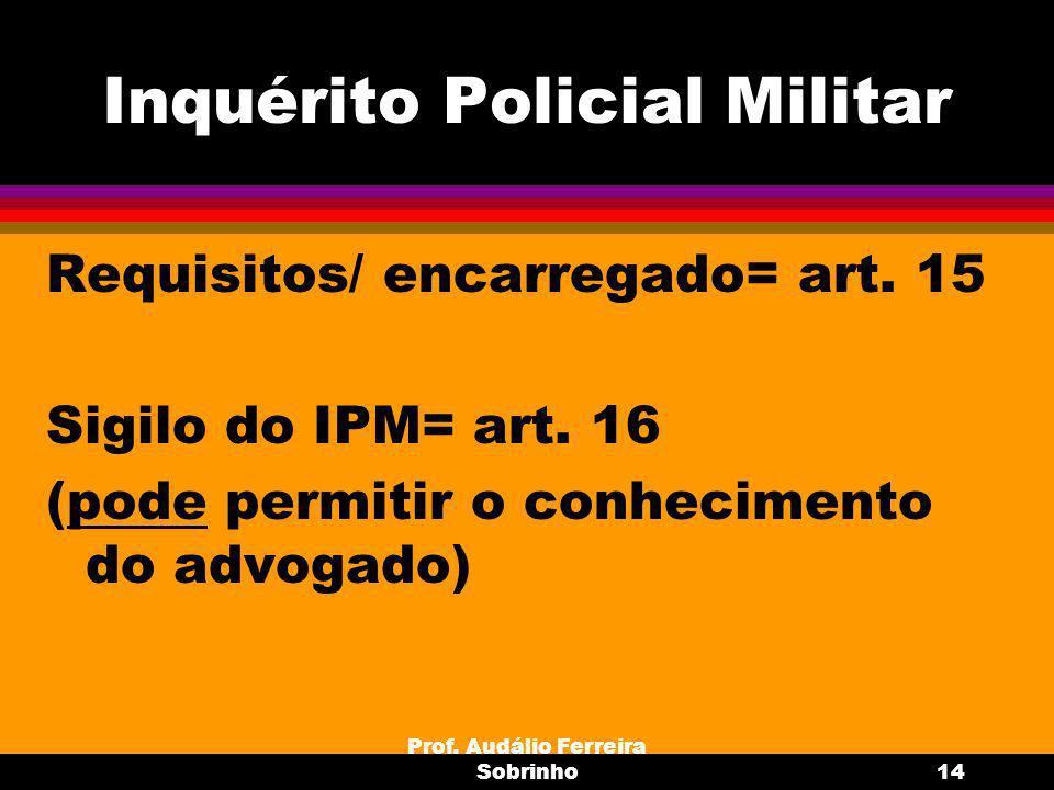 Prof.Audálio Ferreira Sobrinho15 Inconstitucionais Incomunica- bilidade = art.