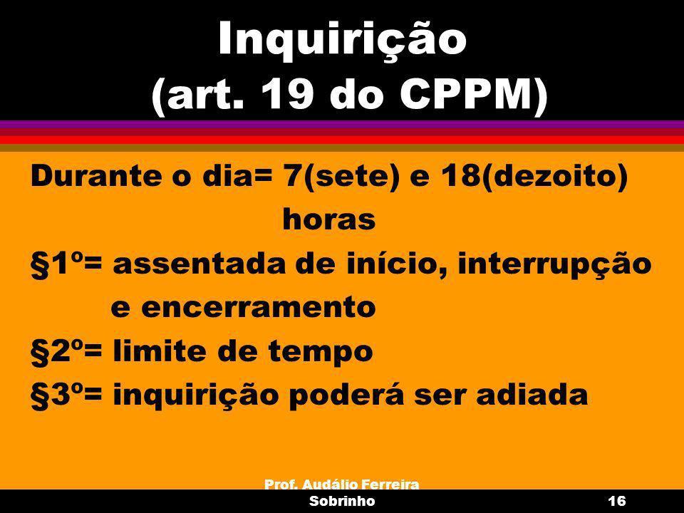 Prof.Audálio Ferreira Sobrinho17 Prazos (art.