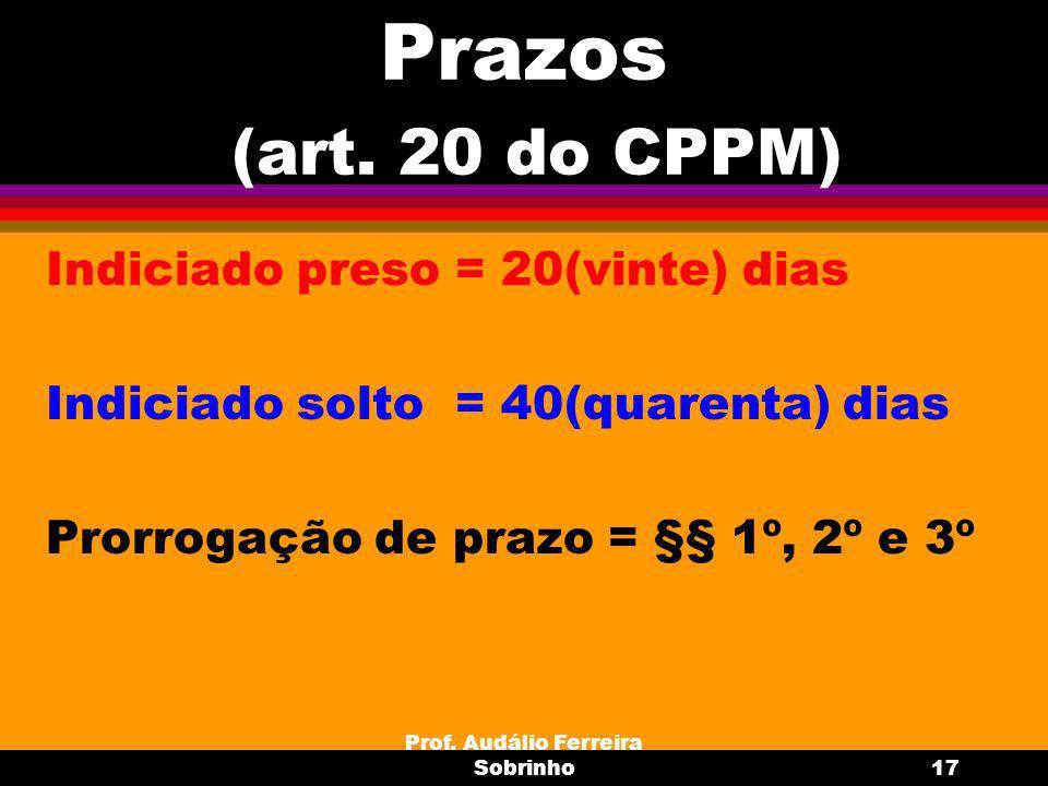 Prof.Audálio Ferreira Sobrinho18 IPM Reunião e ordem do IPM : art.