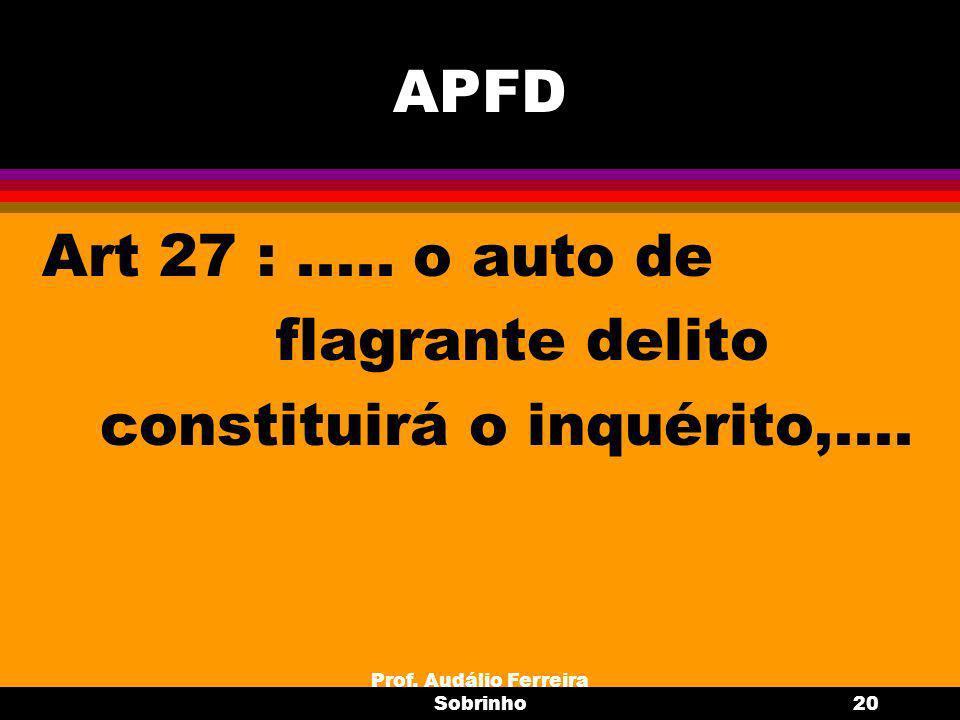 Prof.Audálio Ferreira Sobrinho21 Dispensa de IPM (art.