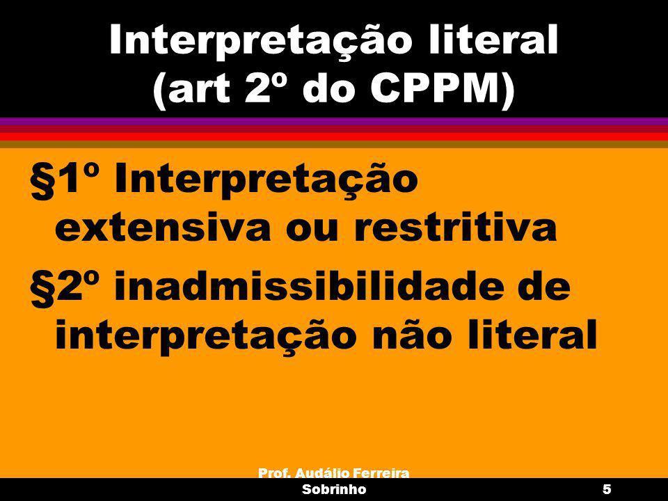Prof.Audálio Ferreira Sobrinho6 Casos Omissos (art.