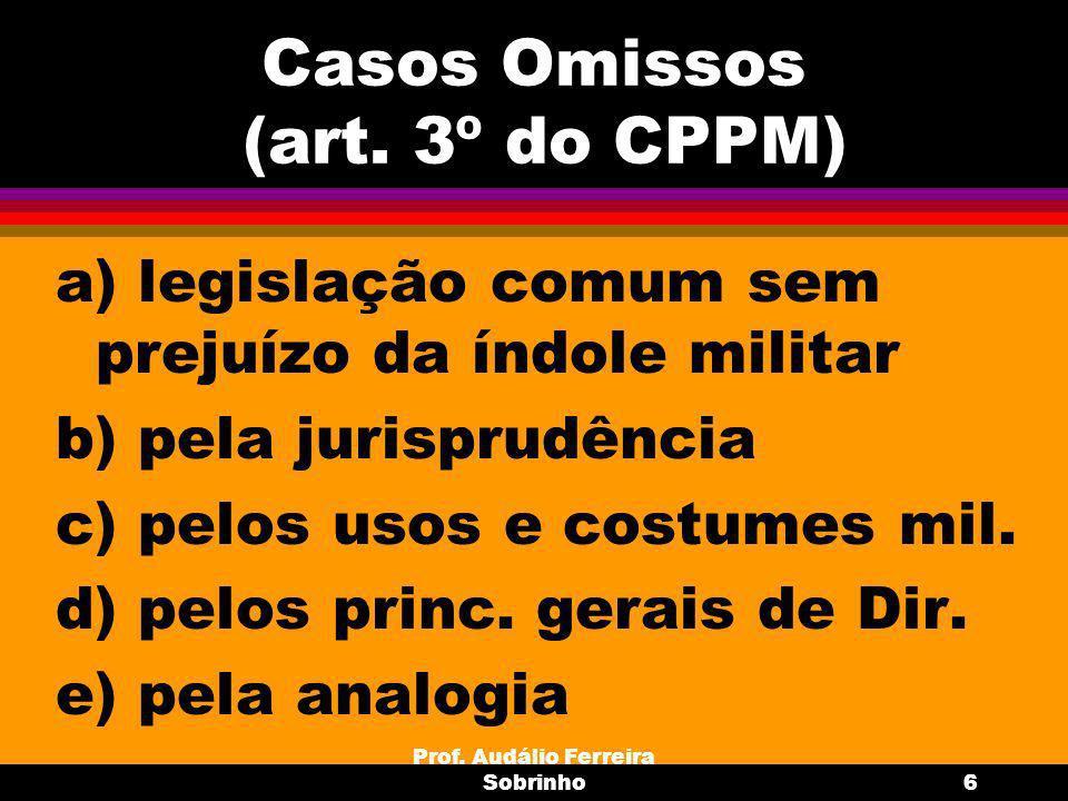 Prof.Audálio Ferreira Sobrinho7 Aplicação no espaço e no tempo art.