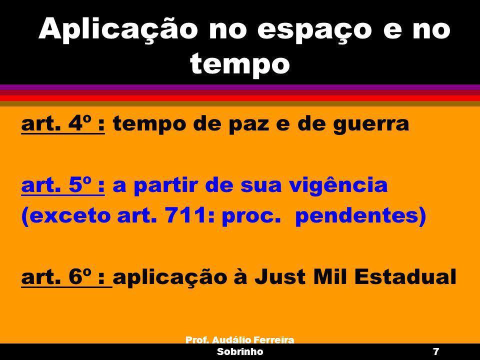 Prof.Audálio Ferreira Sobrinho8 Polícia Judiciária Militar art.