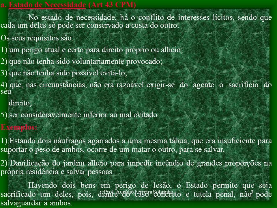 Prof. Audálio Ferreira Sobrinho2 1 - CAUSAS DIRIMENTES São aquelas que atuam exclusivamente sobre o elemento moral das infrações penais, eliminando po