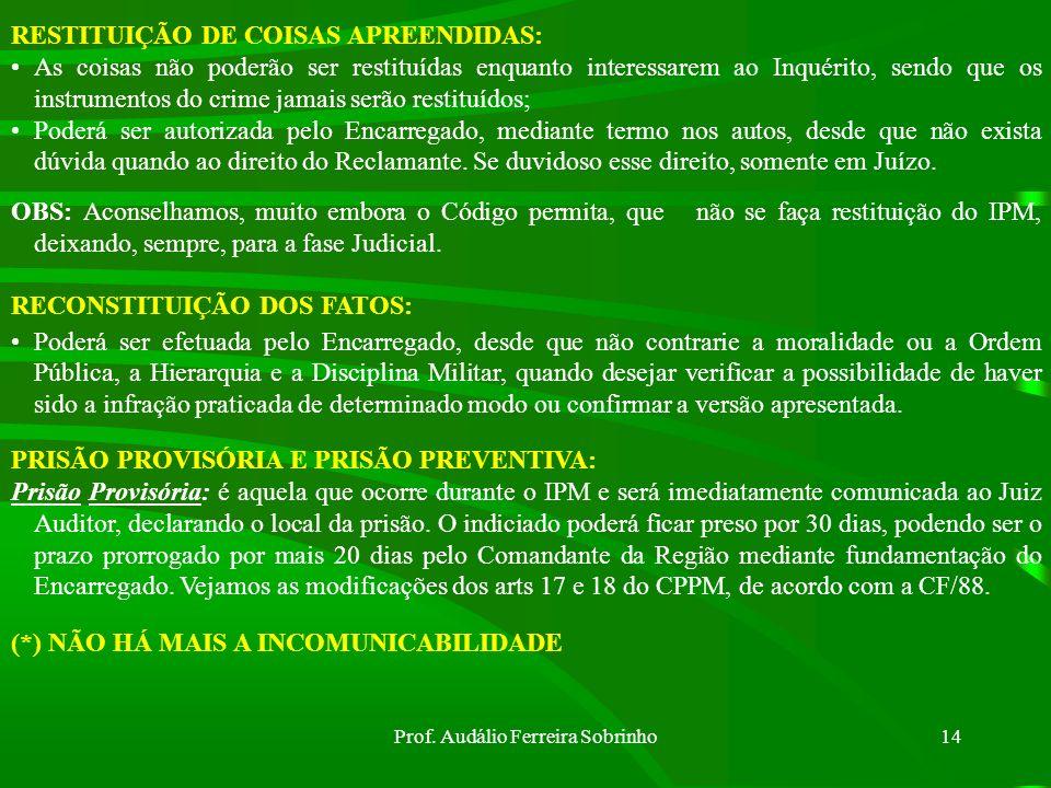 Prof. Audálio Ferreira Sobrinho13 O Oficial executor da busca deverá: a) Se o morador estiver presente: Ler a ele o mandado judicial; -Convidá-lo a fr