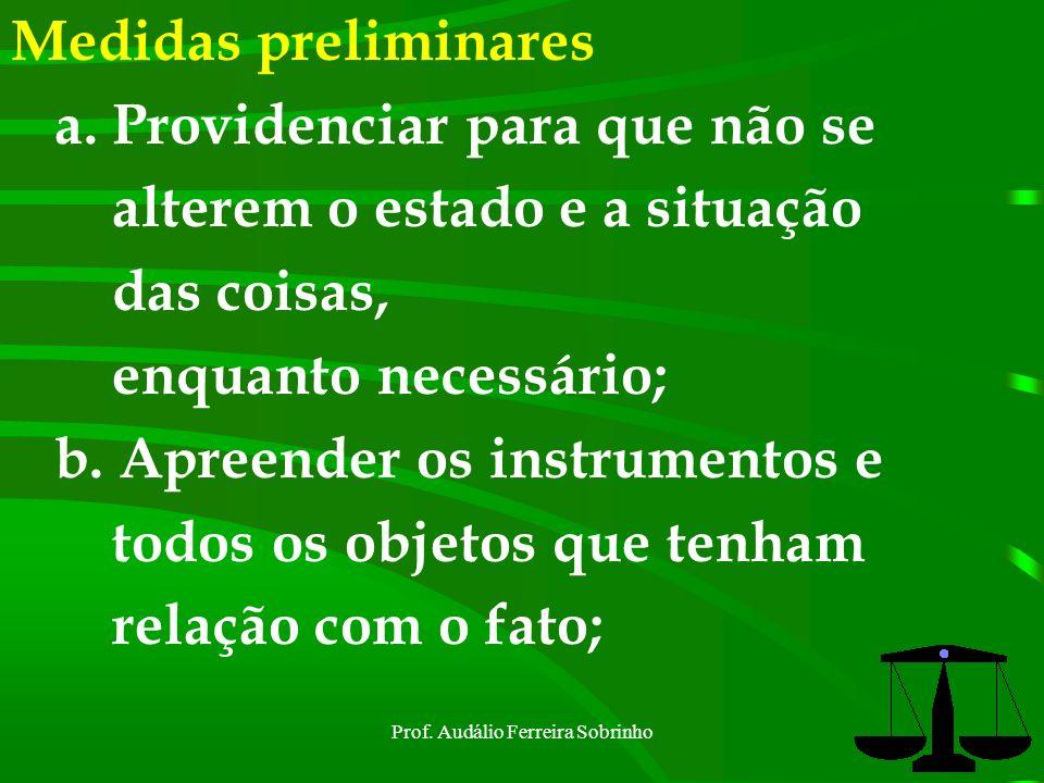 Prof. Audálio Ferreira Sobrinho4 Polícia Judiciária Militar É exercida para apurar os crimes militares e sua autoria, pelas autoridades elencadas no a