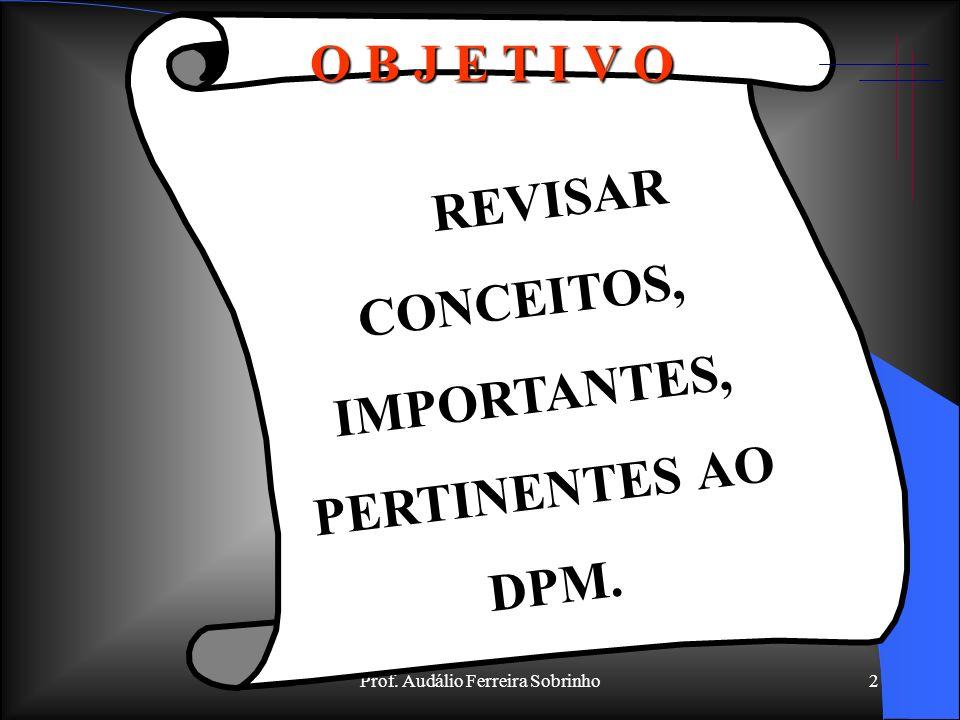 Prof. Audálio Ferreira Sobrinho1 ASSUNTO: DIREITO PENAL MILITAR