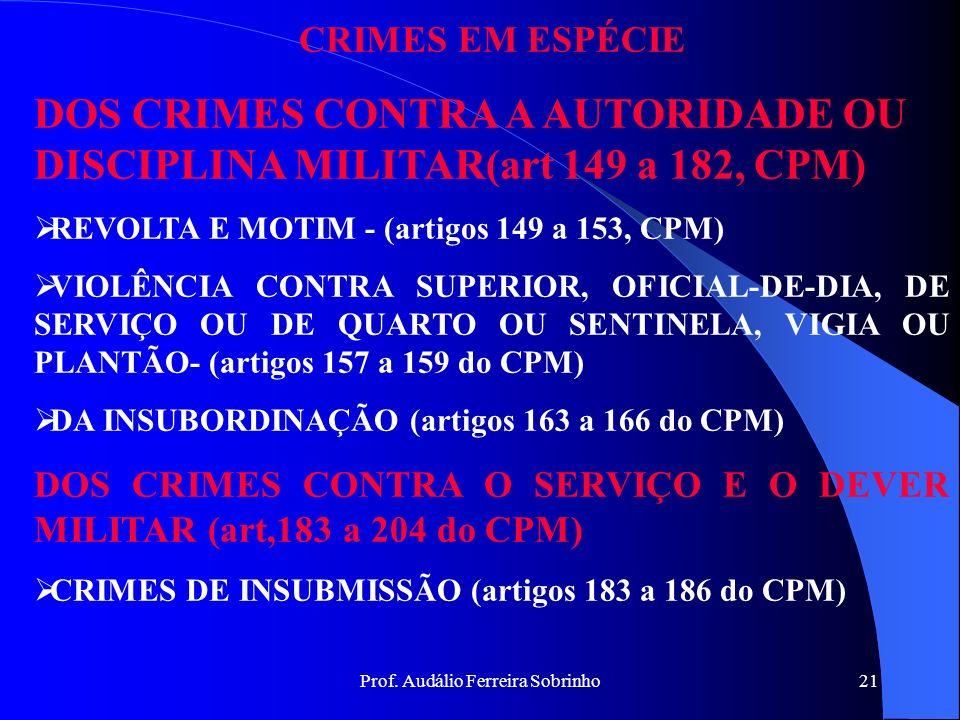 Prof. Audálio Ferreira Sobrinho20 CAUSAS JUSTIFICATIVAS (Art. 42 do CPM) São aquelas que atuam diretamente sobre o elemento material ou objetivo das i