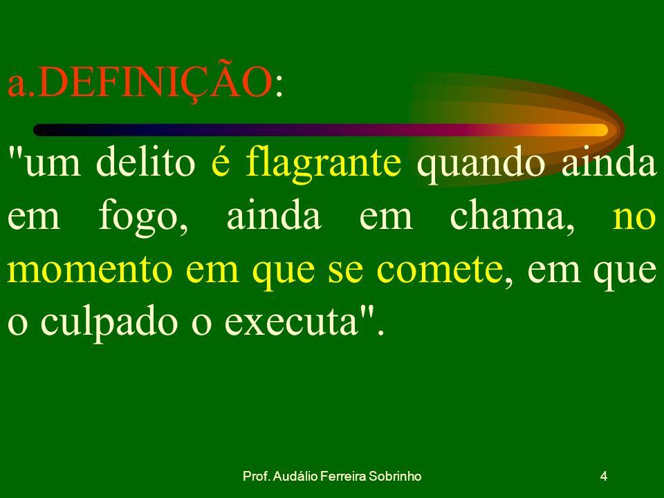 Prof. Audálio Ferreira Sobrinho3 SUMÁRIO: I - INTRODUÇÃO II - DESENVOLVIMENTO a. DEFINIÇÃO. b. APLICABILIDADE. c.CONDUTA DO MILITAR QUANTO AO PRESO EM