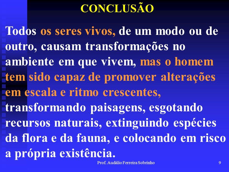 Prof. Audálio Ferreira Sobrinho8 CAPÍTULO 3 A RPPN ENQUANTO MODALIDADE DE UC, EM FACE DO SNUC SISTEMA NACIONAL DE UNIDADES DE CONSERVAÇÃO HISTÓRICO DA